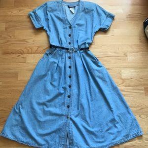 Vintage Jean Dress Sz5/6 Tickets California